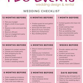 I Do Events Wedding Checklist